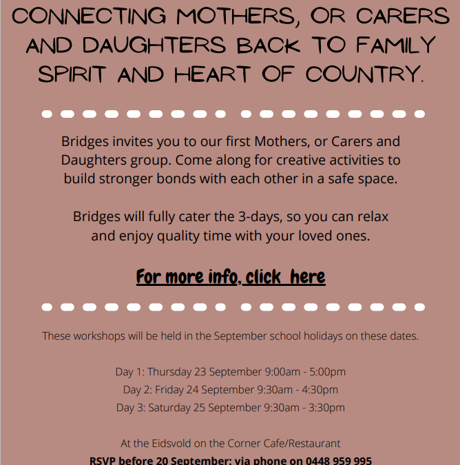 Mother and Daughter Workshops Eidsvold